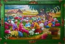 PD-040 Lukisan Panen Bunga