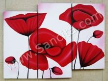 P3-40 Lukisan Minimalis Set / Panel Bunga Sallas