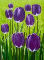 BG-45 Lukisan Bunga Tulip