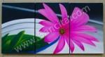 P3-41 Lukisan Minimalis Set / Panel Bunga Herbras
