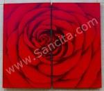 P2-03 Lukisan Minimalis Set / Panel Bunga Mawar