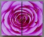 P2-04 Lukisan Minimalis Set / Panel Bunga Mawar