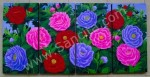 P4-48 Lukisan Minimalis Set / Panel Bunga Peony