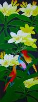 BG-46 Lukisan Bunga Kamboja