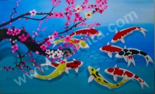 K-37 Lukisan Ikan Koi 9
