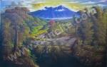 PD-041 Lukisan Sawah Dan Gunung