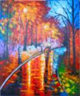 AT-35 Lukisan Abstrak Taman