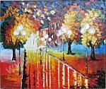 AT-30 Lukisan Abstrak Taman