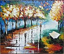 AT-32 Lukisan Abstrak Taman