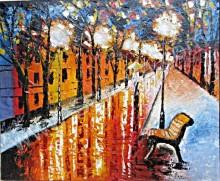 AT-34 Lukisan Abstrak Taman