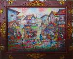 PS-019 Lukisan Pasar Tradisional