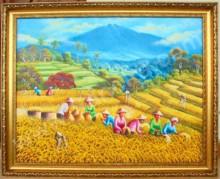 PD-044 Lukisan Panen Padi