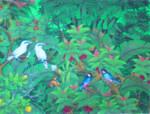 BR-14 Lukisan Burung Jalak Bali