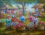 PS-036 Lukisan Pasar Bunga