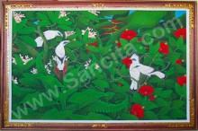 BR-12 Lukisan Burung Jalak Bali