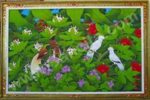 BR-13 Lukisan Burung Jalak Bali