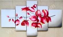 P5-11 Lukisan Minimalis Set / Panel Set Bunga Anggrek