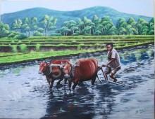 KP-11 Lukisan Orang Membajak Sawah