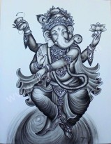 T-20 Lukisan Ganesha
