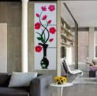 P3-47 Lukisan Minimalis Set Bunga Kembang Sepatu
