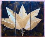 P3-44 Lukisan Panel Daun