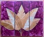 P3-43 Lukisan Panel Daun