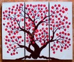 P3-46 Lukisan Panel Bunga Sakura