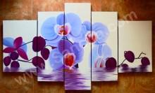 P5-13 Lukisan Minimalis Set Bunga Anggrek