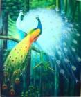 BR-15 Lukisan Burung Merak