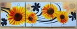 P3-49 Lukisan Minimalis set bunga matahari