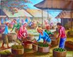 PS-037 Lukisan Pasar Buah
