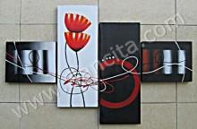 P4-51 Lukisan Minimalis Set