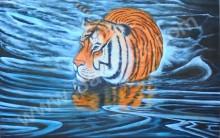 BN-14 Lukisan Macan Berenang