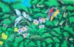 BR-16 Lukisan Burung Jalak Bali