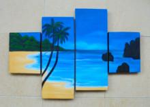 P4-114 Lukisan Minimalis Laut / Pantai