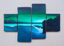 P4-116 Lukisan Minimalis Laut / Pantai