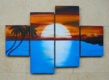 P4-115 Lukisan Minimalis Laut / Pantai